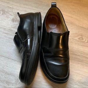 Birkenstock Black Loafer Shoes, Size 39